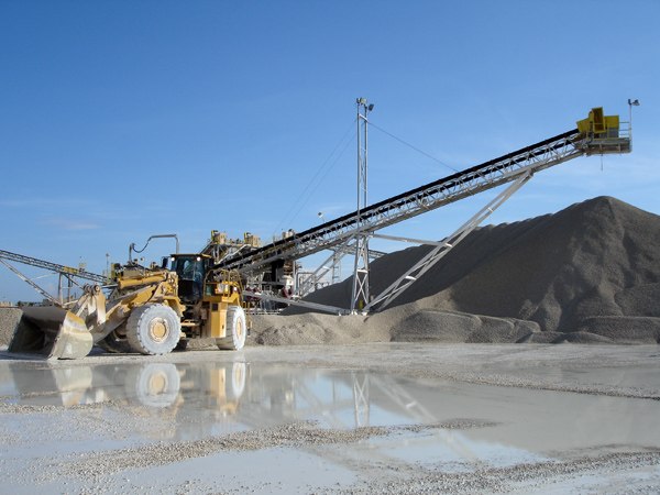 industrial conveyor systems for sand gravel aggregate